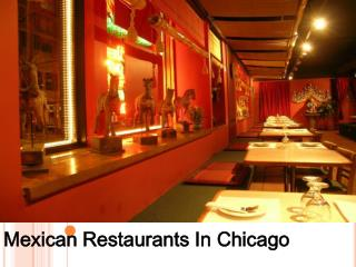 Mexican Restaurants In Chicago