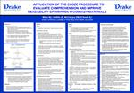 APPLICATION OF THE CLOZE PROCEDURE TO  EVALUATE COMPREHENSION AND IMPROVE  READABILITY OF WRITTEN PHARMACY MATERIALS