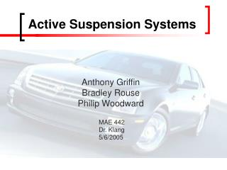 Active Suspension Systems