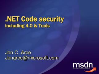 .NET Code security including 4.0 & Tools