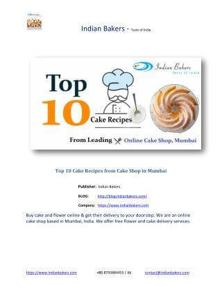 Top 10 Cake Recipes from Cake Shop in Mumbai