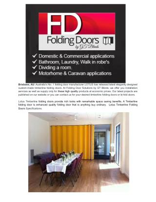 Why To Choose Folding Doors For Your Home