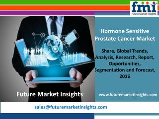 Hormone Sensitive Prostate Cancer Market Volume Analysis, Segments, Value Share and Key Trends 2016-2026