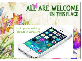 iphone training in bangalore and marathahalli