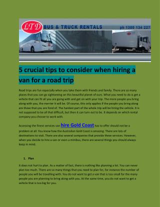 truck rental gold coast