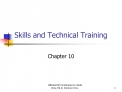 Skills and Technical Training