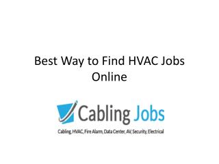 Best Way to Find HVAC Jobs Online