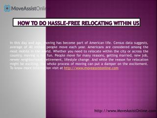 Top Tips to Moving Hassle-Free in US