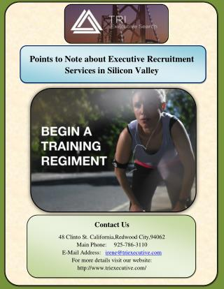 Points to Note about Executive Recruitment Services in Silicon Valley