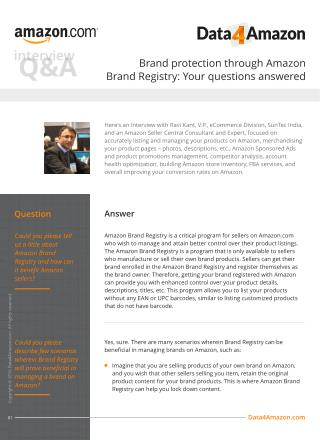 Brand protection through Amazon Brand Registry: Your questions answered