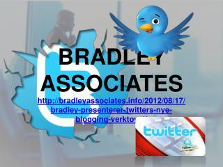 Bradley presenterer Twitters nye blogging verktøyet