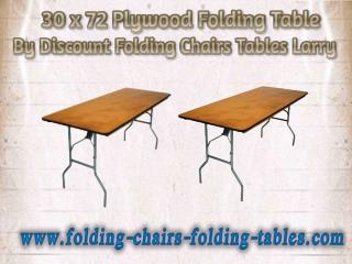 30 x 72 Plywood Folding Table By Discount Folding Chairs Tables Larry