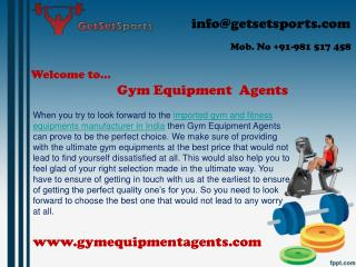 Make good selection for imported gym and fitness equipments manufacturer in India