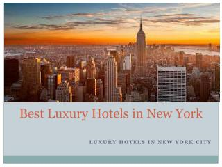 Best luxury hotels in New York