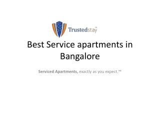 Best Service apartments in Bangalore