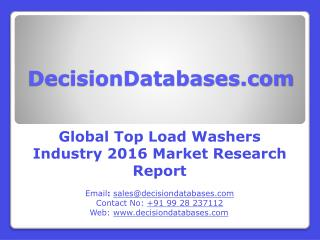 Global Top Load Washers Market Forecasts to 2021