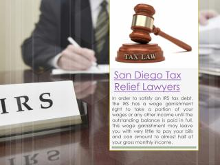 San Diego Tax Relief Lawyers