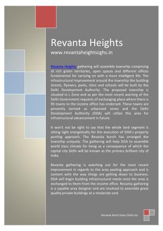 Revanta Heights Dwarka L Zone