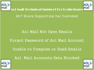 Aol Mail Customer And Technical Support Number