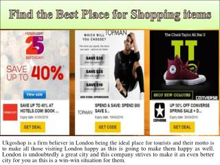 Find the Best Place for Shopping items