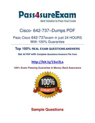642-737 Exam Questions With 100% Passing Guarantee