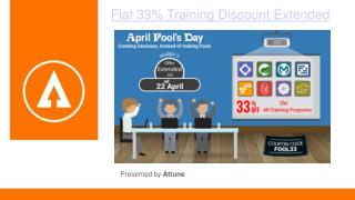 Flat 33% Training Discount Extended