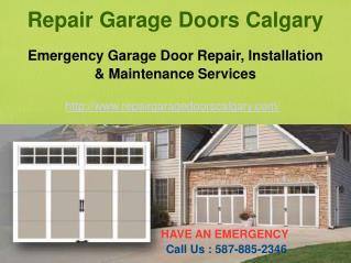 Calgary Garage Door Repair Services – Repair Garage Doors Calgary