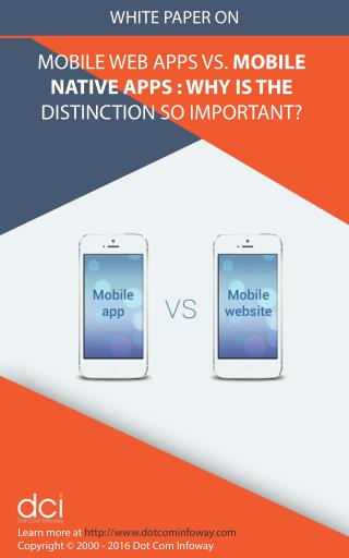 Mobile Web Apps vs. Mobile Native Apps