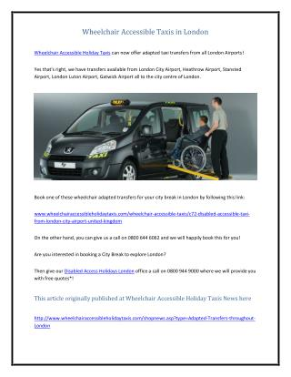 Wheelchair Accessible Taxis in London.pdf