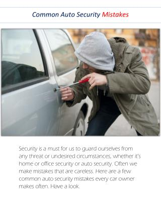 Most Common Auto Security Mistakes - Golden Locksmith