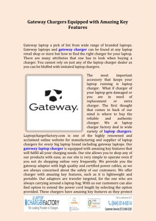 Gateway Chargers
