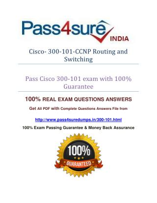 Pass4sure 300-101 CCNP Routing and Switching Exam Question