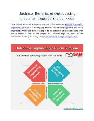 Business Benefits of Outsourcing Electrical Engineering Services