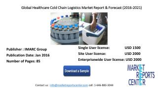 Global Healthcare Cold Chain Logistics Market is expected to grow US$ 14.4 billion by 2021.