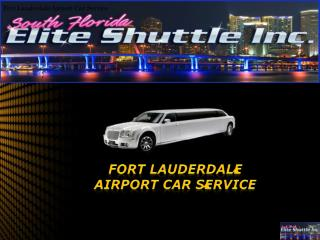 Fort Lauderdale Airport Car Service
