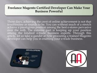 Freelance Magento Certified Developer Can Make Your Business Powerful