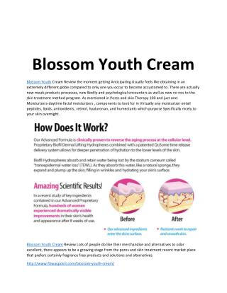 Blossom Youth Cream: Wrinkles Free Cream