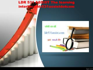 LDR 531 ASSIST The learning interface/ldr531assistdotcom
