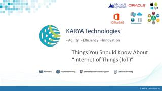 "Things You Should Know About ""Internet of Things (IoT)"""