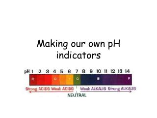 Making our own pH indicators