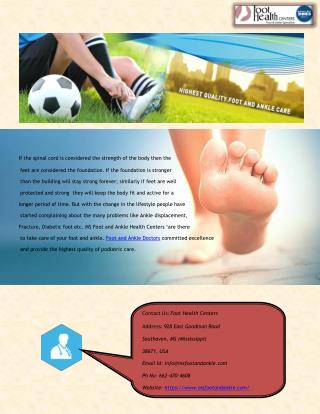 Foot and Ankle doctors in Southaven