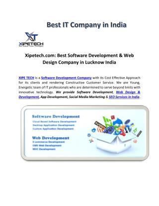 Xipetech: Software Development, Web Design, SEO Company Lko