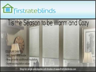 Buy custom Blinds and Shades Online | Firstrateblinds