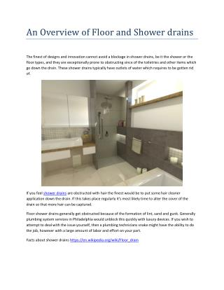 An Overview of Floor and Shower drains