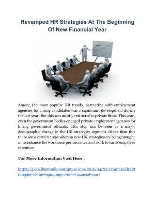 Revamped HR Strategies At The Beginning Of New Financial Year