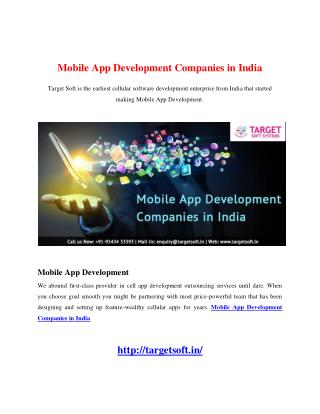 Mobile App Development Companies in India