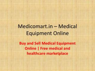 medical equipment online store india | used medical equipment for sale