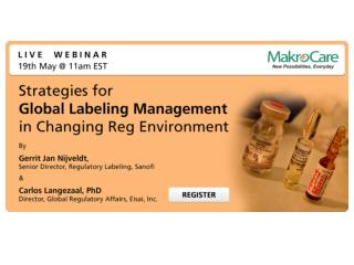Webinar: Strategies for Global Labeling Management in Changing Reg Environment