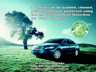 We help save the environment, Pearl Waterless Car Care