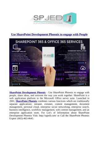 Use SharePoint Development Phoenix to engage with People